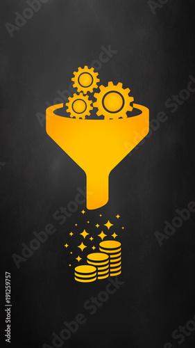 Canvastavla Sales funnel vector icon