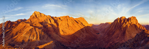 Amazing Sunrise at Sinai Mountain, Beautiful dawn in Egypt, Beautiful view from Fototapet