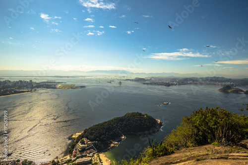 Photo  Rio de Janeiro - June 19, 2017: Panoramic view of Rio de Janeiro from the Sugarl