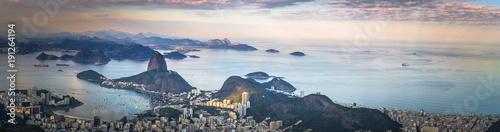 Türaufkleber Rio de Janeiro Rio de Janeiro - June 20, 2017: Panorama of Rio de Janeiro seen from Corcovado mountain in Rio de Janeiro, Brazil