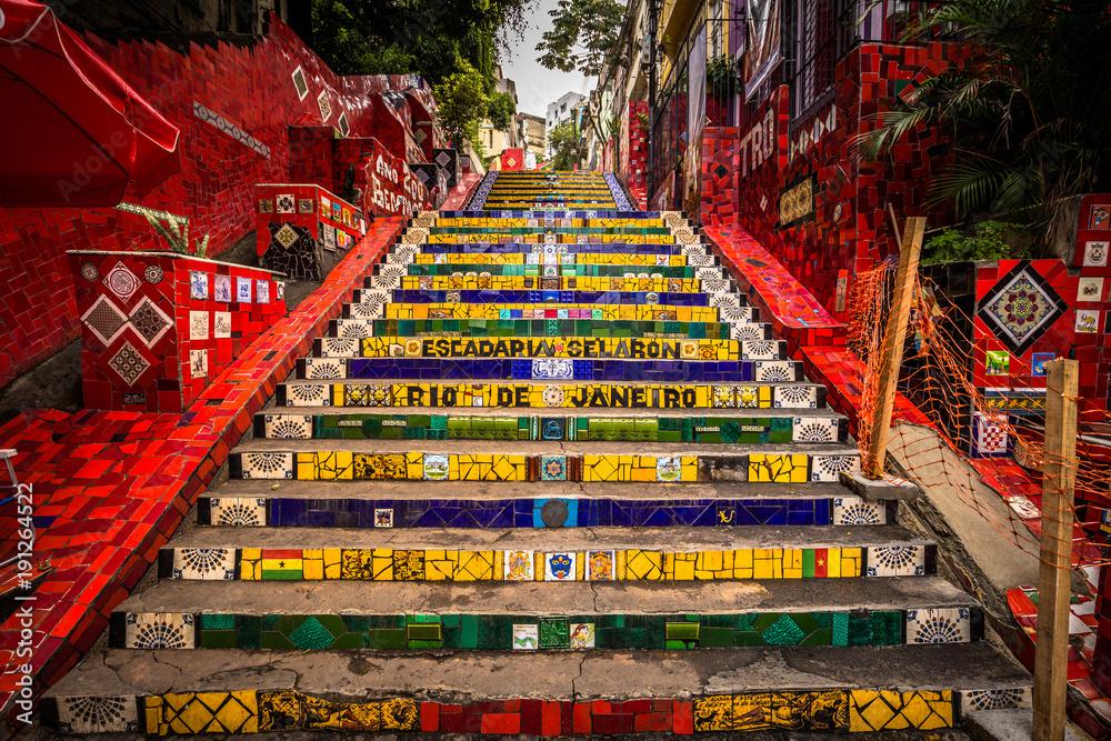Photo  Rio de Janeiro - June 21, 2017: The Selaron Steps in the historic center of Rio