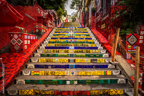 Rio de Janeiro - June 21, 2017: The Selaron Steps in the historic center of Rio Canvas Print