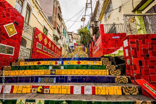 Rio de Janeiro - June 21, 2017: The Selaron Steps in the historic center of Rio Wallpaper Mural