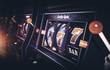 canvas print picture Row of Vegas Slot Machine