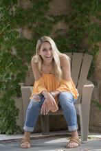Stunning Young Blonde Woman La...