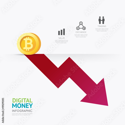 Money Template | Infographic Business Digital Cryptocurrency Money Template Design
