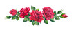 canvas print picture - Red roses bouquet. Isolated watercolor illustration