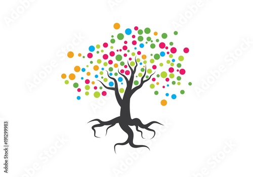 Family Tree Symbol Icon Logo Design Buy This Stock Vector And