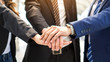Business People teamwork stacking hands showing unity , teamwork Business concept