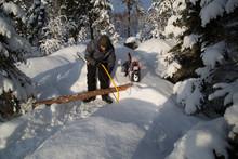 Campfire In Deep Snow, Prepara...