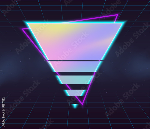 Photo  Holographic vector backgrounds.