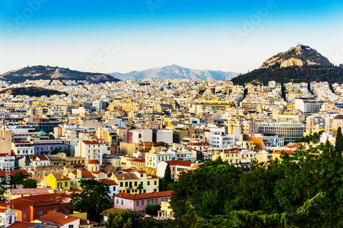Fotobehang Athene view of Buildings around Athens city, Greece