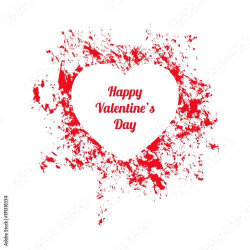 White And Red Happy Valentines Day Gift Card Kaufen Sie Diese