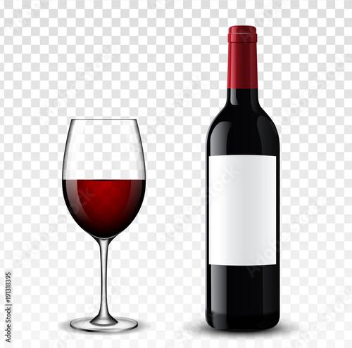 Wine bottle vector illustration. Fototapet