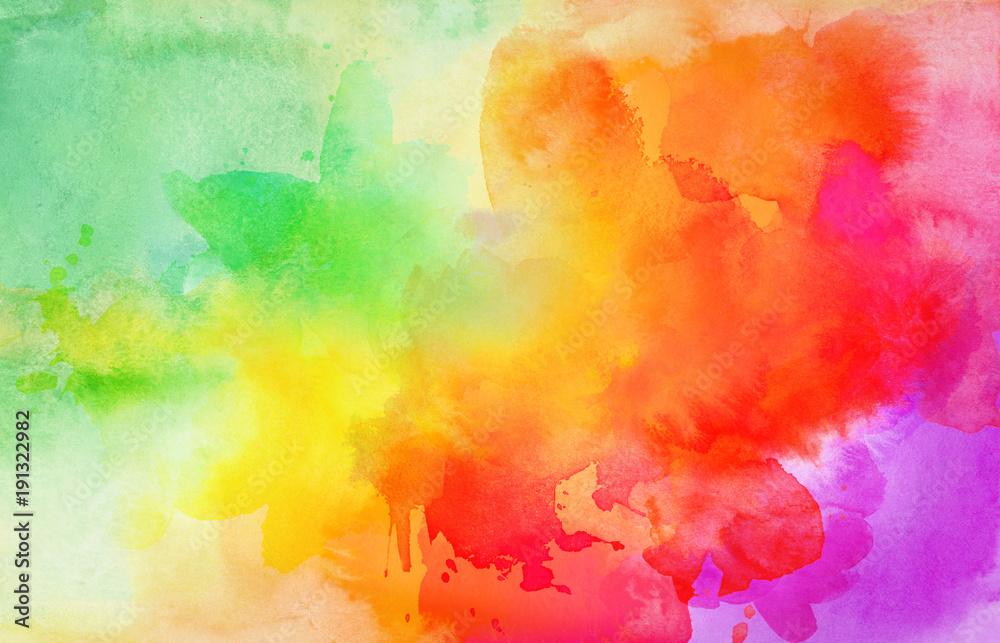 Fototapety, obrazy: aquarell farben textur verlauf bunt