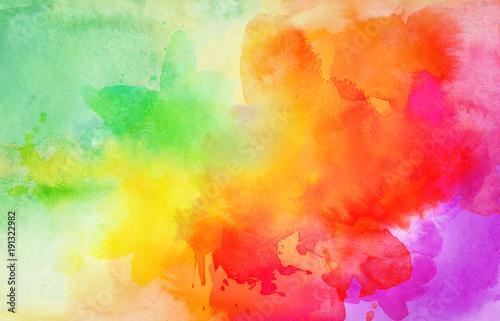 Fotografie, Obraz  aquarell farben textur verlauf bunt