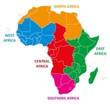 Regions Of Africa. Political M...
