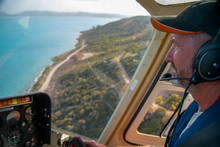 Mature Helicopter Pilot In The...