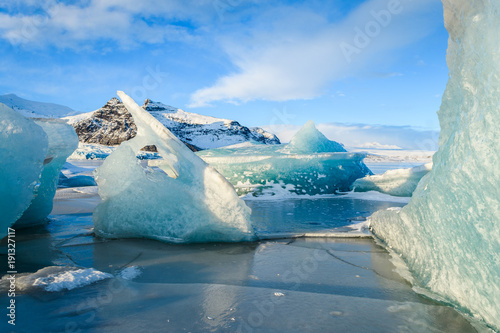 Photo sur Toile Glaciers frozen landscape at vatnajokull glacier, Iceland