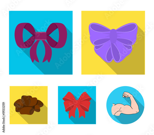 Ornamentals, frippery, finery and other web icon in flat style Fototapeta