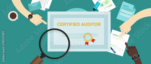 certified auditor in internal financial certification and information technology Wallpaper Mural