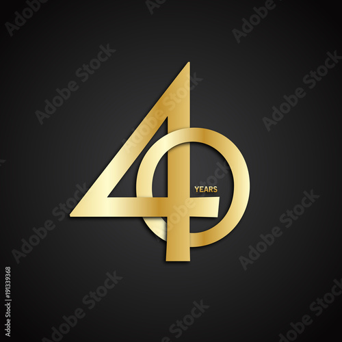 Fotografia  40 YEAR ANNIVERSARY Vector Icon
