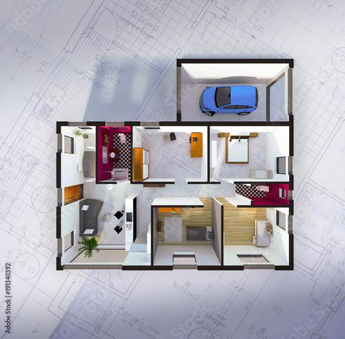 Merveilleux Plan Aménagement Intérieur Du0027une Maison Individuelle