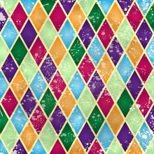 Abstract Harlequin Pattern Wit...