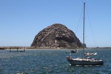 The Calm Landscape Of Morro Rock, California
