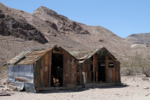 Abandoned Huts In A Death Vall...