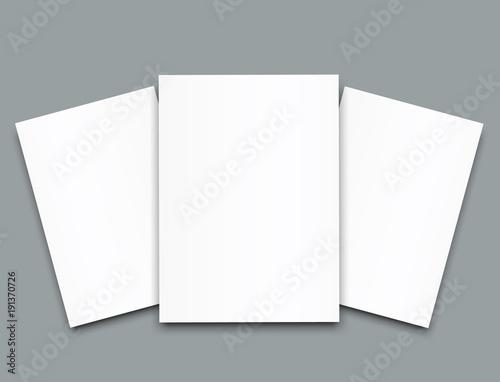 Photo  Blank poster bi fold brochure mockup cover template