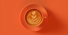 Orange Coffee Cup Cappuccino 3...