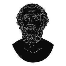 Ancient Greek Bust Of The Poet...