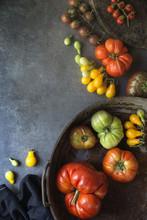Tasty Fresh Tomatoes On Table