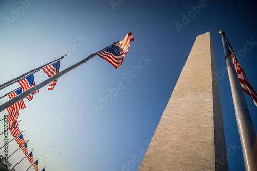 Zdjęcie XXL Washington dc pomnik upamiętniający o zachodzie słońca
