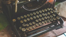 Antique Black Typewriter