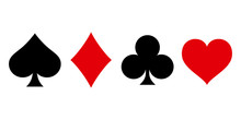Suit Deck Of Playing Cards On White Background. Vector Illustration.