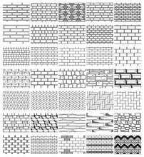 Collection Drawings Textures Of Brickwork For  Design