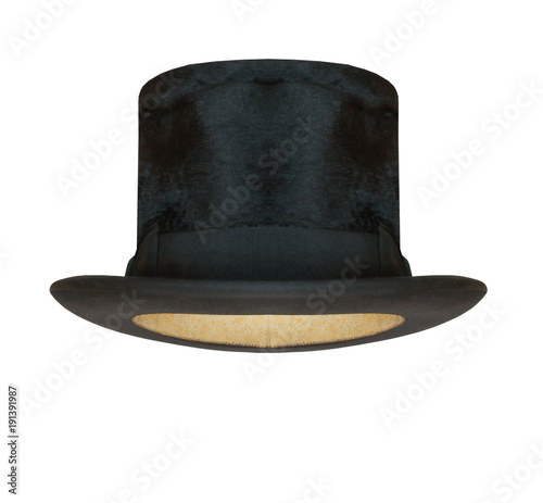 66bb9eb29e70a0 Black cylinder hat isolated on white background. - Buy this stock ...