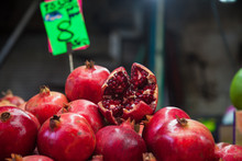 Pomegranate In Tel Aviv Market