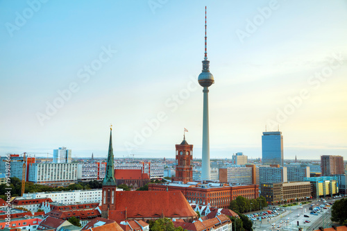 Photo sur Toile Europe Centrale Aerial overview of Berlin