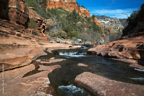 Oak Creek at Rock Slide State Park in the Coconino National Forest near Sdeona, Arizona