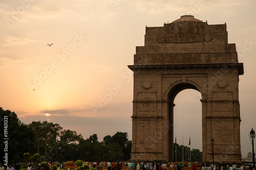 Fotografie, Obraz  India Gate at Sunset