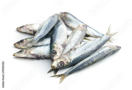 Photo Raw sardines fish.