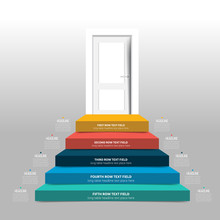 Door And Stairs Infographic, D...