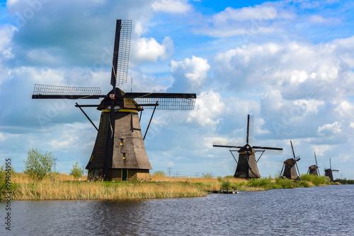 Wall Murals Mills Dutch mills in Kinderdijk, South Holland