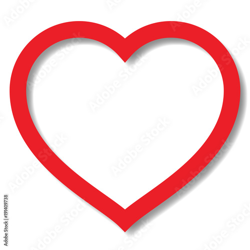 perfect heart shape vector with shadow buy this stock vector and rh stock adobe com heart shape vector free heart shaped vector