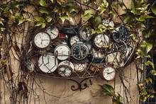 Old Antique Retro Clocks In Ir...