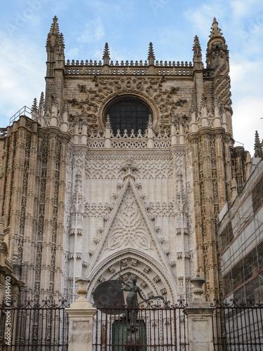 Fachada de la Catedral de Sevlla, España