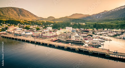 Valokuva  ketchikan alaska downtown of a northern USA town